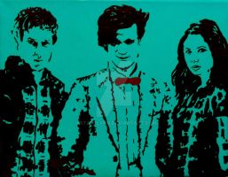 Rory, Eleventh Doctor, and Amy by KStarrLynn