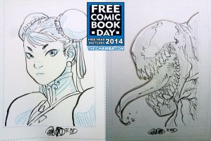 FCBD 2014 Sketches  17 - 18 by theCHAMBA