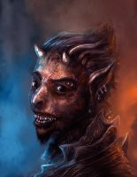 Shiny happy demon by Redface