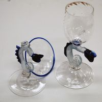 dragon stemmed goblets by from-time-to-time