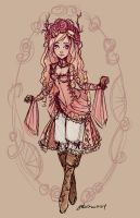 Briar Rose Sketch by NoFlutter