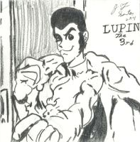 My first Lupin III sketch by thunderfoxjt