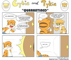 Cybie and Tykie - Quarantined by CyberPikachu