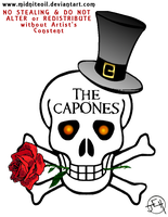 Band Logo-The Capones 2.0 by Midniteoil-Burning