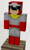 Minecraft Mob Ideas: Protoman by dylan613