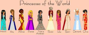 Princesses of the World by TheBealtes
