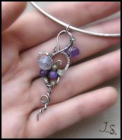 Silver pendant - collection First spring flowers by JSjewelry