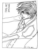 Zero Kiryu Vampire Knight fan art line art by hush-janiz15