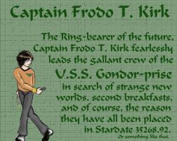 Frodo T. Kirk by spockerel