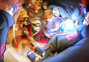 Naruto vs Pain by je2bot