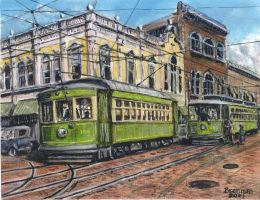Jacksonville Trolleys by LPBrennan