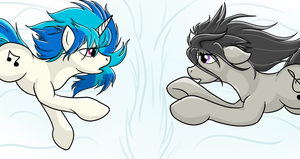 JinYaranda Sketch: Vinyl Scratch and Octavia by Sitrophe