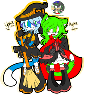 [Collab] Witch and Vampire by SoraIroDJ