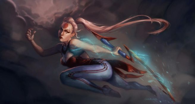 Blood Moon Diana by Gabriela-Birchal