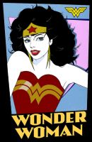 if Patrick Nagel worked for DC comics by Brandtk
