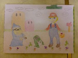 OC in Mario World ?! by extraphotos
