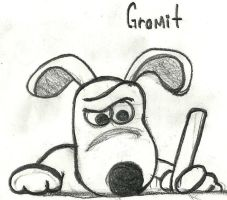 gromit is writing by beto-zoka