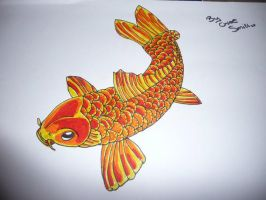 Koi Fish Drawing by chloesmith8