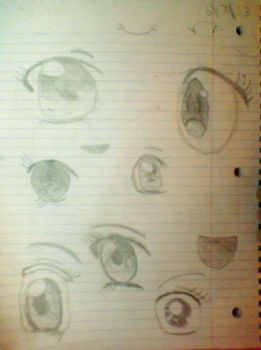 Eye sketches by lexee09