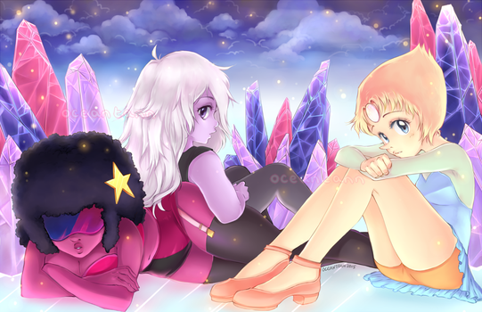 Icy Space Babes by oceantann