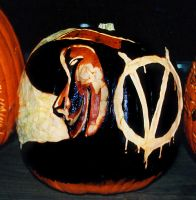 V for Vendetta Pumpkin by rjclrutter