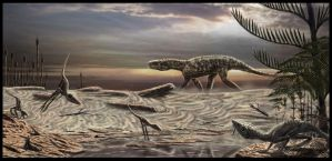 Scleromochlus and Ticinosuchus by dustdevil