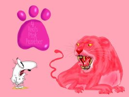 4 reals Pink Panther by Makinita