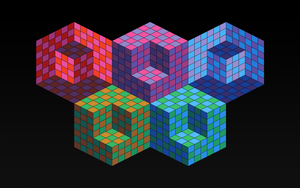 Inspired by Victor Vasarely - Hexa 5 by Manshonyagger