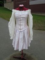 pink pirate lolita skirt front by TheOther-Half