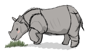 Javan Rhino for Floral-Fire by DayDreamsAtMidnight