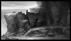 Set Design for How to Train Your Dragon by NathanFowkesArt