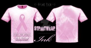 Fight For Breast Cancer T-shirt designed by SWI by StreetWearinc