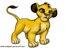 Simba - lion king by WolfGlow