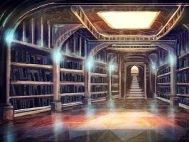 SD 6.10.13: Accession Epoch Bg - Clotho office by mintyfreshmangos