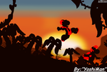 Sunset Silhouttes by YoshiMan1118