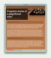 Gingerbread Man Journal CSS by electricnet