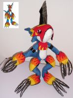 My selfmade plush Flamedramon Pic.1 by TamerOfAstamon