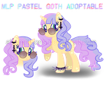 MLP Pastel Goth Adoptable #03 | CLOSE | by AhomeToons