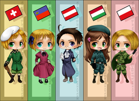 APH - Bookmark set 3 by Momiji95