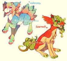 Watercress and Somersault {Auction} by PhloxeButt