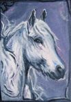 ACEO Ghostly Pony by estellea