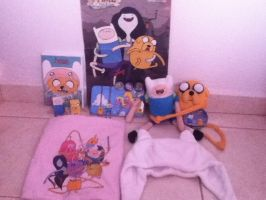 My Adventure Time Stuff by Whiskers-the-Cat