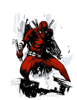 Deadpool art Color for tattoo by Badonk