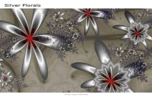 Silver Florals by GillsDigitalWorld