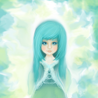 Girl In  Aqua Colors by thepurpleorchid1