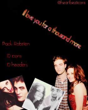Pack Robsten - Heartbeaticons by natheditions