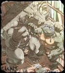 Leatherhead and Donatello by inubiko