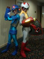 X and Proto Man by ravenqueen22