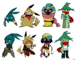 Pokemon Characters by rino563