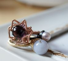 Flower Stacking Ring by CrysallisCreations